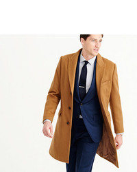 Ludlow peak lapel topcoat in wool cashmere medium 385308