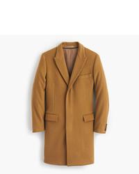 Ludlow peak lapel topcoat in wool cashmere with thinsulate medium 402323