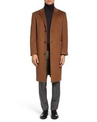 Hart Schaffner Marx Sheffield Classic Fit Wool Cashmere Overcoat