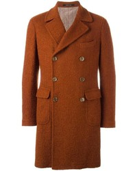 Textured double breasted coat medium 1127798