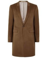 Topman Tobacco Cashmere Overcoat
