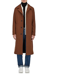 AMI Alexandre Mattiussi Wool Blend Belted Trench Coat
