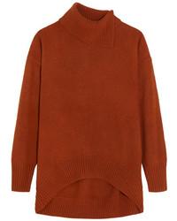 Oversized wool turtleneck sweater brown medium 5083786