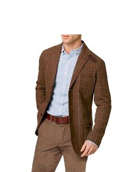 Tobacco Plaid Blazer