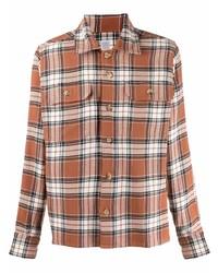 Eleventy Check Print Button Up Shirt