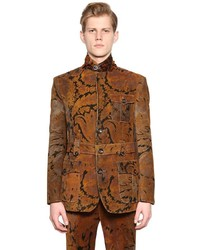 Etro Printed Cotton Corduroy Military Jacket