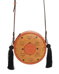 MCM Vintage Tambourine Visetos Canvas Crossbody Bag