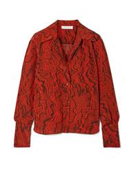Chloé Printed Silk De Chine Shirt