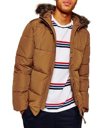 Tobacco Puffer Coat