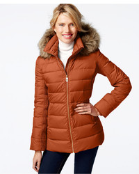MICHAEL Michael Kors Michl Michl Kors Faux Fur Trim Down Puffer Coat