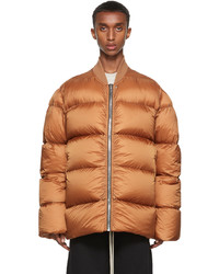 Rick Owens Orange Down Flight Jacket