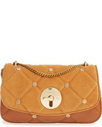 Tobacco Quilted Leather Crossbody Bag