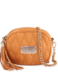 Valentino By Mario Valentino Nina Quilted Leather Crossbody Bag Miele