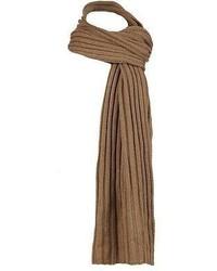 Black Rivet Solid Knit Scarf