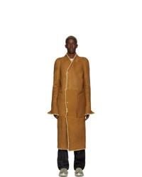 Rick Owens Tan Nappa Coat