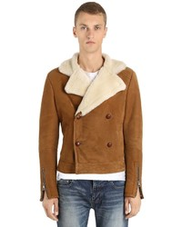 Double Breasted Shearling Jacket