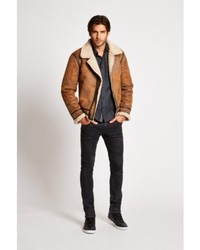 GUESS Railroad Faux Shearling Jacket | Where to buy & how to wear