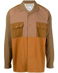 White Mountaineering Colour Blocked Panelled Shirt