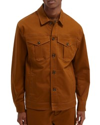 Scotch & Soda Organic Cotton Blend Twill Trucker Jacket