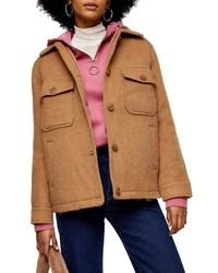 Topshop Spread Collar Jacket