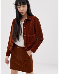 New Look Trucker Jacket With Pocket In Tan
