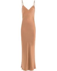 Mes Demoiselles Silk Slip Dress With Lace
