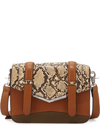 French Connection Remy Snake Embossed Crossbody Bag Nutmegnude