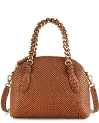Foley + Corinna Tiggy Snake Embossed Leather Crossbody Bag Coco