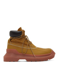 Undercover Beige Panelled Boots