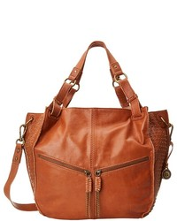Tobacco Studded Leather Tote Bag