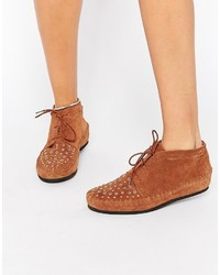 Asos Collection Alberta Suede Studded Ankle Boots
