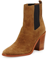 Tobacco Suede Ankle Boots