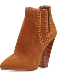 Michael Kors Michl Kors Channing Whipstitch Suede Bootie