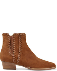 Michael Kors Michl Kors Collection Presley Suede Ankle Boots Light Brown