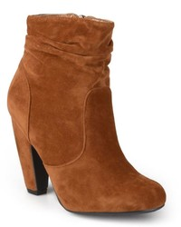 Journee Collection Qmork Slouch Heeled Ankle Boots