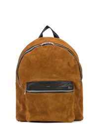 Tobacco Suede Backpack