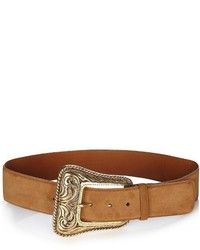 Saint Laurent Western Corset Suede Belt