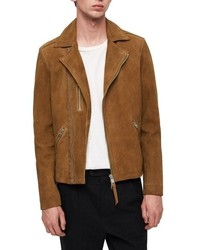 AllSaints Judd Slim Fit Leather Biker Jacket