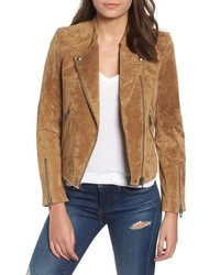 BLANKNYC No Limit Suede Moto Jacket