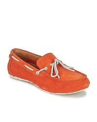 Clarks marcos edge orange suede boat shoes medium 225773