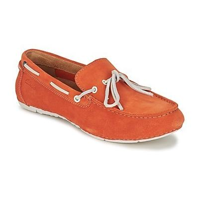 Clarks Marcos Edge Orange Suede Boat Shoes | Where to buy & how to ...