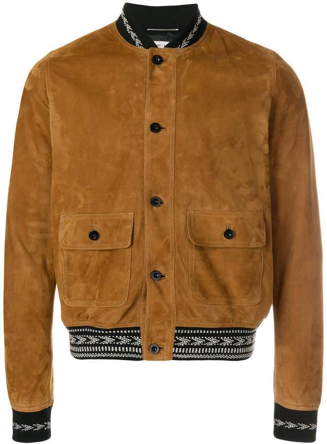 274c19a3c $3,103, Saint Laurent Leather Bomber Jacket