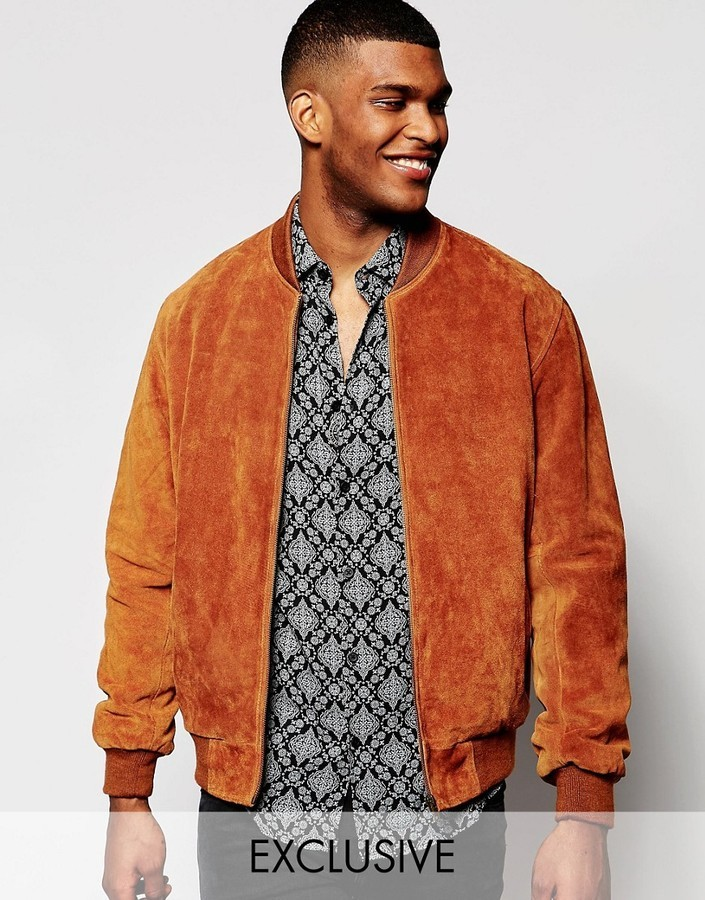 Reclaimed Vintage Suede Bomber Jacket | Where to buy & how to wear