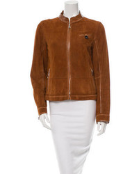 Suede leather trimmed jacket medium 453044