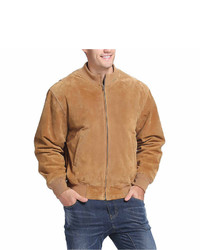 Tanker style suede bomber jacket tall medium 6739525