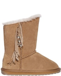 Emu Fringed Suede Wool Boots