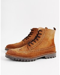Selected Homme Suede Brogue Boot