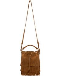 Brown suede small emmanuelle bucket bag medium 526857