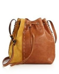 Thalia leather suede bucket bag medium 523618
