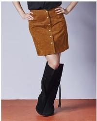 Simply be a line suede skirt medium 374493